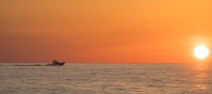 Boating Into Sunset